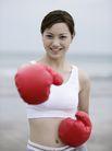 美丽海滩0063,美丽海滩,休闲,女子 拳击 练习