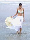 美丽海滩0075,美丽海滩,休闲,长裙 手拿 遮阳帽