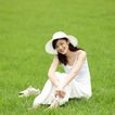 美丽青年0049,美丽青年,休闲,坐在草地上