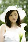 美丽青年0051,美丽青年,休闲,纯情女子 荷叶边吊带衣 百合花
