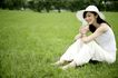美丽青年0058,美丽青年,休闲,闲情 白帽子 喝水