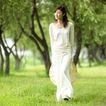 美丽青年0061,美丽青年,休闲,少妇 绿地 散步