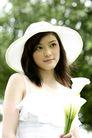 美丽青年0063,美丽青年,休闲,美女 草帽 白花