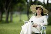 美丽青年0065,美丽青年,休闲,美妇 靠椅 凉帽