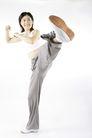 运动瘦身0044,运动瘦身,休闲,踢腿 运动瘦身