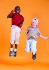 欢乐儿童0074,欢乐儿童,儿童,跳跃 不同 肤色