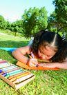 欢乐儿童0081,欢乐儿童,儿童,画图 水彩 野外