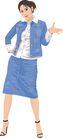 人物休闲0078,人物休闲,卡通人物,蓝色 衣裙 款式