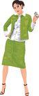 人物休闲0079,人物休闲,卡通人物,绿衣 色彩 样式