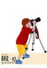 人物休闲0095,人物休闲,卡通人物,孩子 天文台 爱好者