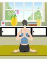 健身0088,健身,卡通人物,瑜伽 标准 健身