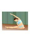 健身0091,健身,卡通人物,体操 训练 伸展