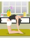 健身0093,健身,卡通人物,体操练习 女子