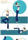健身0100,健身,卡通人物,舞蹈 培训 舞姿