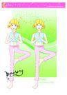健身0102,健身,卡通人物,单脚立地 瘦身运动 女性瘦身