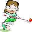 台球0001,台球,卡通人物,红球 稳重 开球 斯诺克 台球比赛