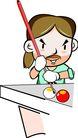 台球0014,台球,卡通人物,分开 点球 插中 握杆 胡来