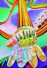 商业印象0001,商业印象,卡通人物,手指 变形 国王 参观 游玩