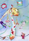 商业印象0013,商业印象,卡通人物,辛苦 疲倦 累 漂浮 悬空