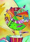 商业印象0014,商业印象,卡通人物,钟表 时间 地球 惜时 合作
