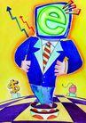 商业印象0021,商业印象,卡通人物,商人 网络 货币