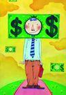 商业印象0025,商业印象,卡通人物,精英 工资 薪水
