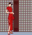 时尚女性0136,时尚女性,卡通人物,