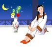 时尚女性0138,时尚女性,卡通人物,