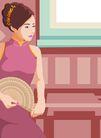 时尚女性0146,时尚女性,卡通人物,
