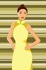 时尚女性0149,时尚女性,卡通人物,