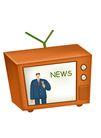 漫画商业人物0008,漫画商业人物,卡通人物,电视 新闻 节目 电视机 频道 消息
