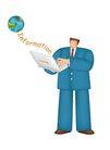 漫画商业人物0010,漫画商业人物,卡通人物,电脑 手提电脑 先进 科学 网络 信息