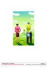 漫画商业人物0017,漫画商业人物,卡通人物,恋爱 培育 灌溉 爱心 播种