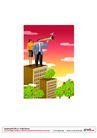 漫画商业人物0019,漫画商业人物,卡通人物,顶楼 远眺 发展观 视野 事业 果树