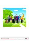 漫画商业人物0041,漫画商业人物,卡通人物,一群人 春季