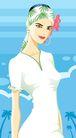男女名媛0001,男女名媛,卡通人物,妖娆 纤腰 头巾 海边 眼神