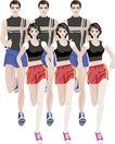 综合体育运动0015,综合体育运动,卡通人物,