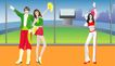 综合体育运动0032,综合体育运动,卡通人物,