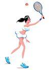 网球0002,网球,卡通人物,移动 球拍 超短裙 露点 走光
