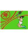 网球0007,网球,卡通人物,匡威 运动装 网球鞋 广告 形象
