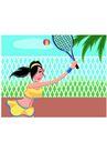 网球0008,网球,卡通人物,打球 反抽 反扣 健身 体育