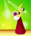 芭蕾0001,芭蕾,卡通人物,享受 专注 腰鼓 表演 演出 韩国文化