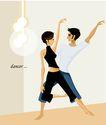芭蕾0002,芭蕾,卡通人物,双人舞 配合 默契 动作整齐 舞蹈大赛