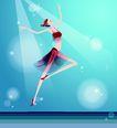 芭蕾0007,芭蕾,卡通人物,舞蹈 幽雅 灯光 效果 舞台