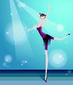 芭蕾0008,芭蕾,卡通人物,优美 姿态 舞姿 芭蕾 踮脚
