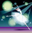 芭蕾0009,芭蕾,卡通人物,跨越 分腿 白裙 迷人 音乐