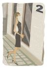 逛街购物0013,逛街购物,卡通人物,墨镜 楼层 走廊 电梯 玻璃