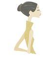 逛街购物0019,逛街购物,卡通人物,笑容 高领 盘发 高雅 端庄