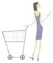 逛街购物0042,逛街购物,卡通人物,