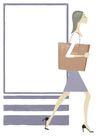 逛街购物0050,逛街购物,卡通人物,